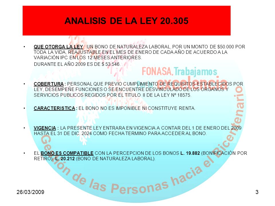 ANALISIS DE LA LEY 20.305 ANALISIS DE LA LEY 20.305