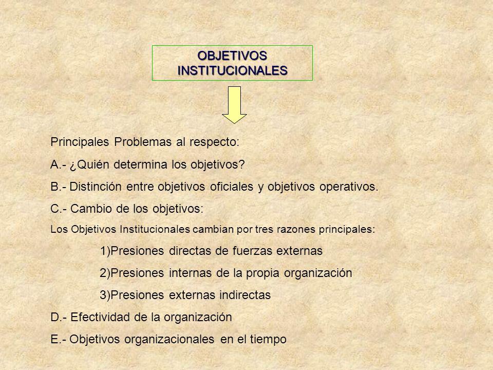 OBJETIVOS INSTITUCIONALES