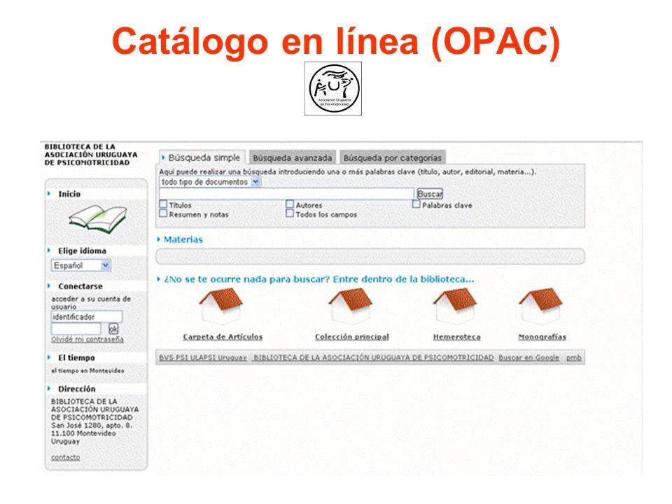 Catálogo en línea (OPAC)