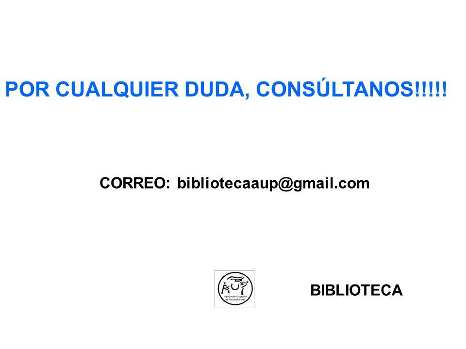 CORREO: bibliotecaaup@gmail.com