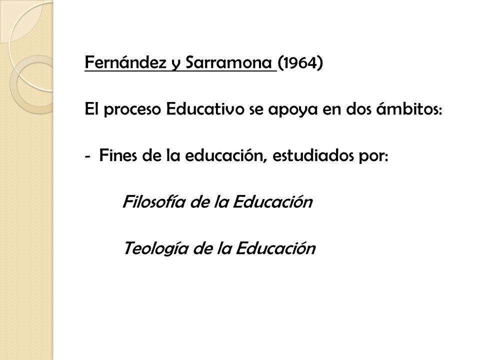 Fernández y Sarramona (1964)