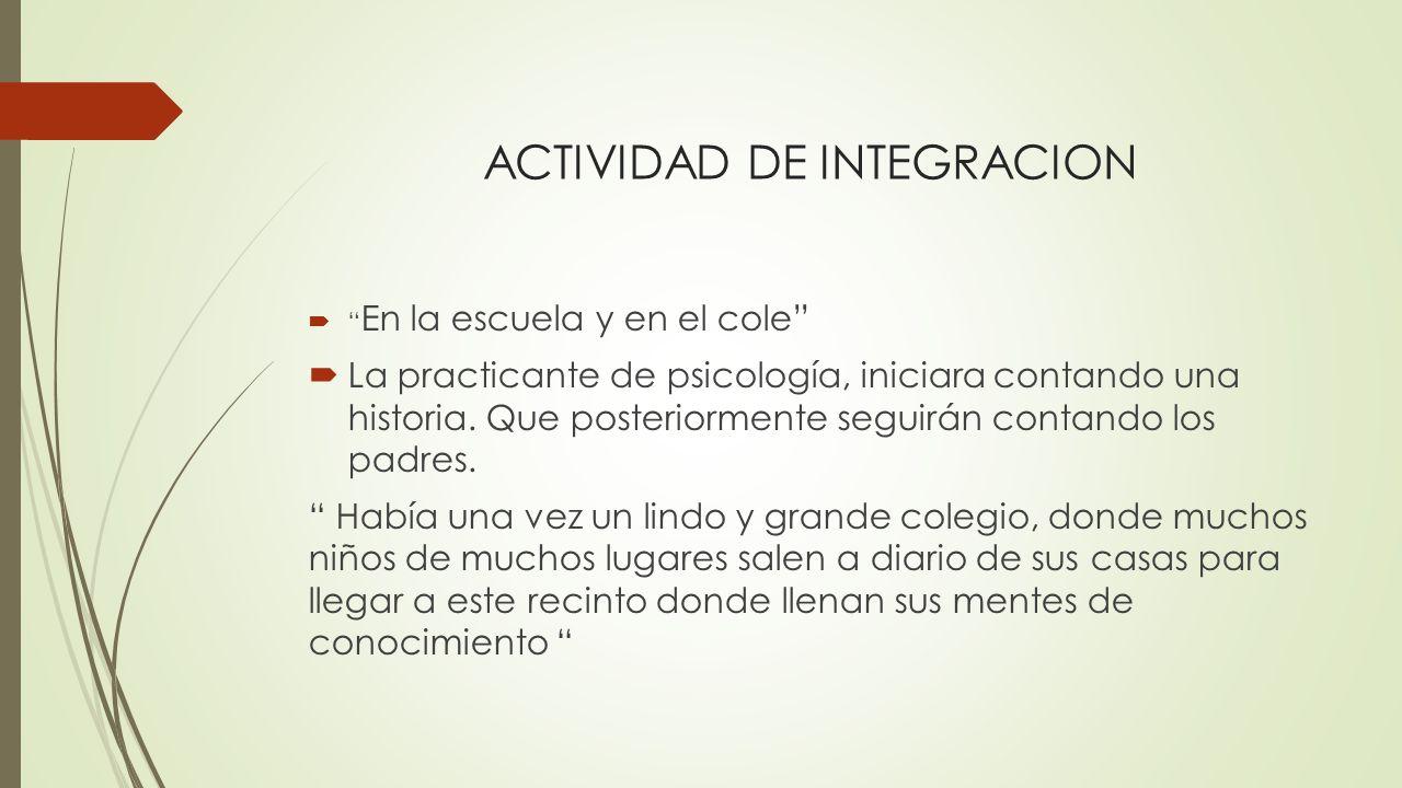 ACTIVIDAD DE INTEGRACION