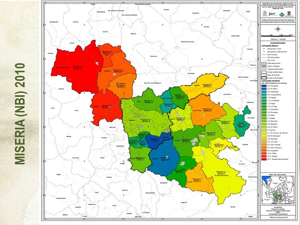 MISERIA (NBI) 2010 4. Implementar un modelo de inclusión y equidad en el ámbito territorial del proyecto HORIZONTES 2030.