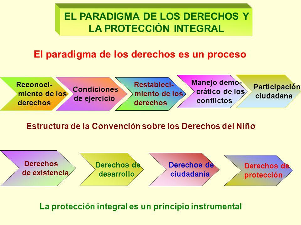 EL PARADIGMA DE LOS DERECHOS Y LA PROTECCIÓN INTEGRAL