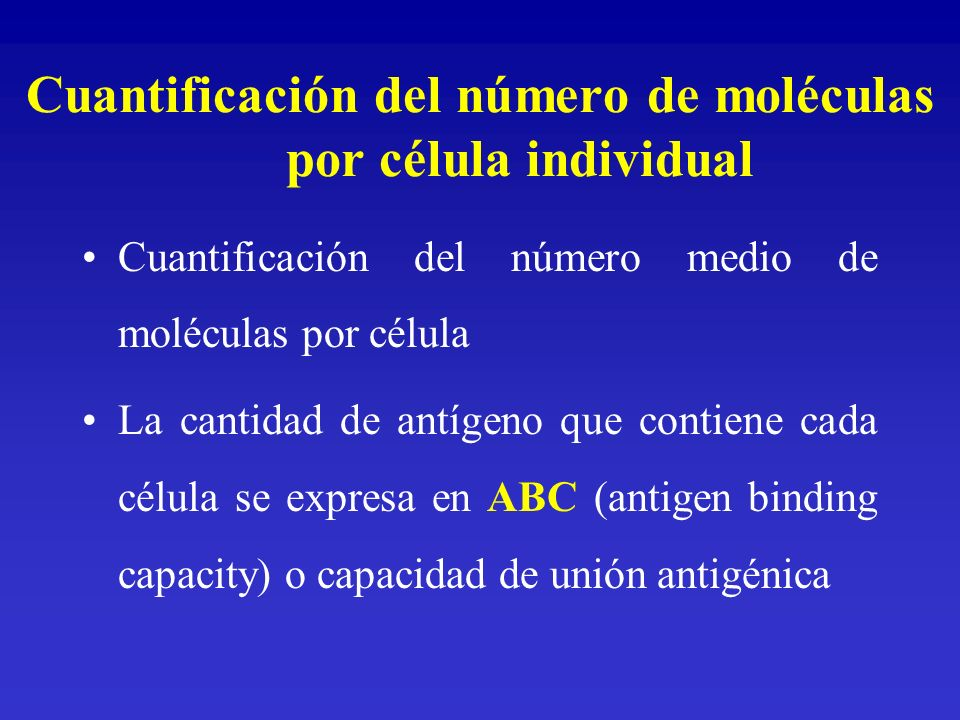 Cuantificación del número de moléculas por célula individual
