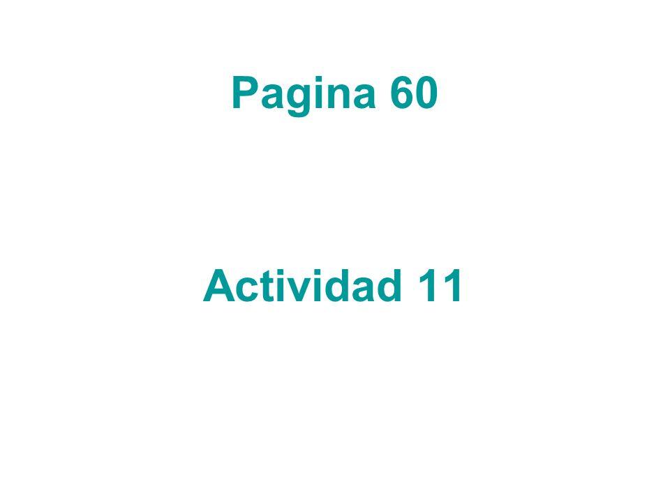 Pagina 60 Actividad 11