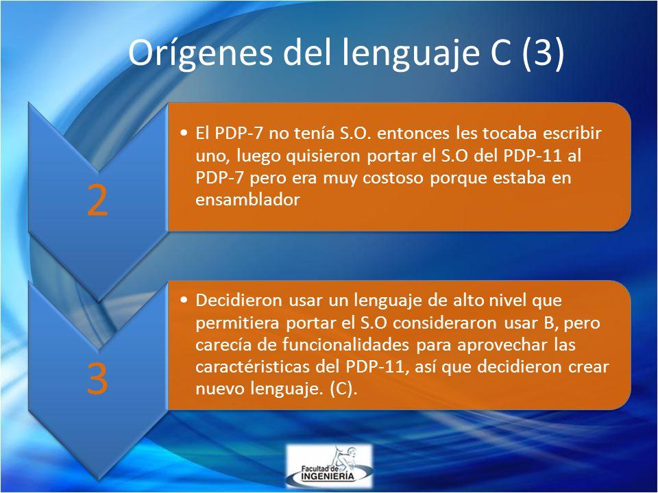 Orígenes del lenguaje C (3)