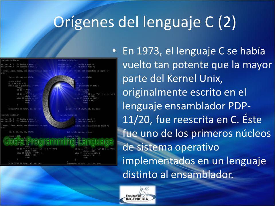 Orígenes del lenguaje C (2)