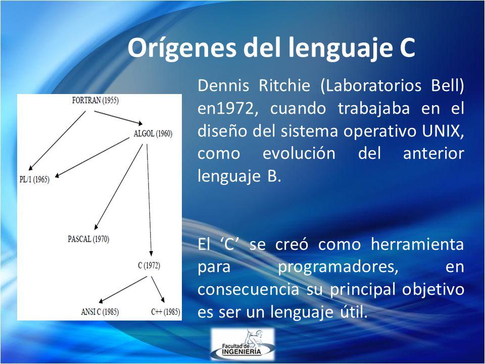 Orígenes del lenguaje C