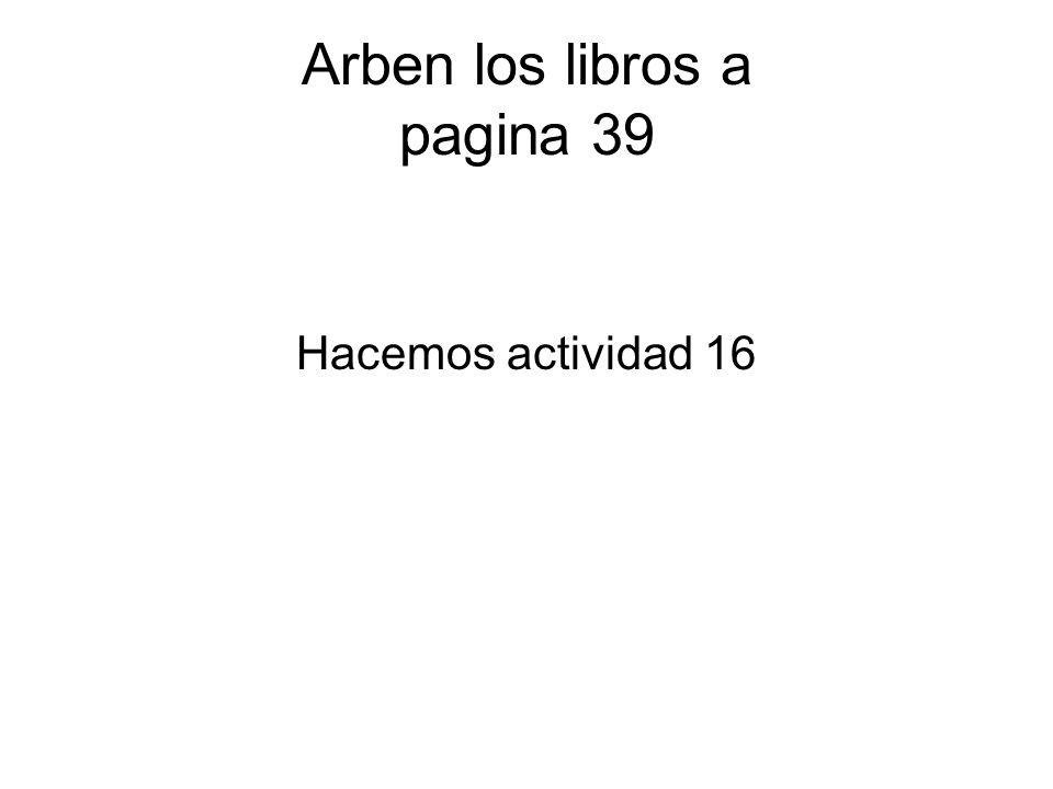 Arben los libros a pagina 39