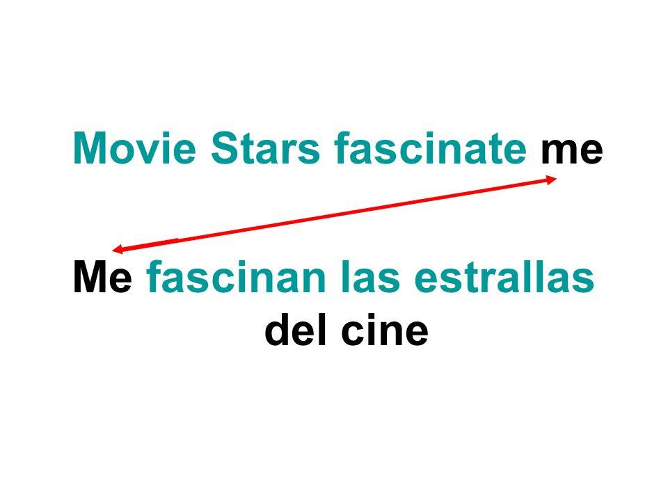 Me fascinan las estrallas del cine