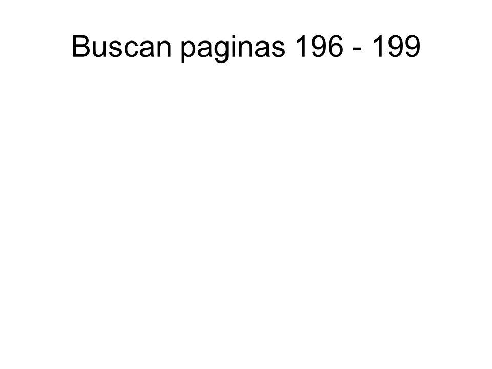 Buscan paginas 196 - 199