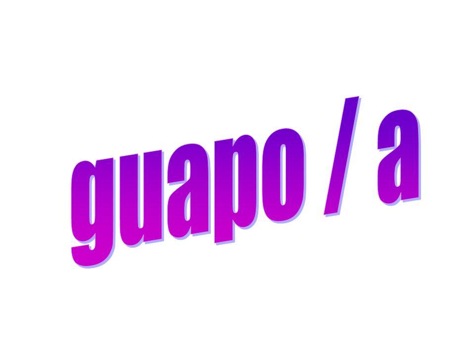 guapo / a