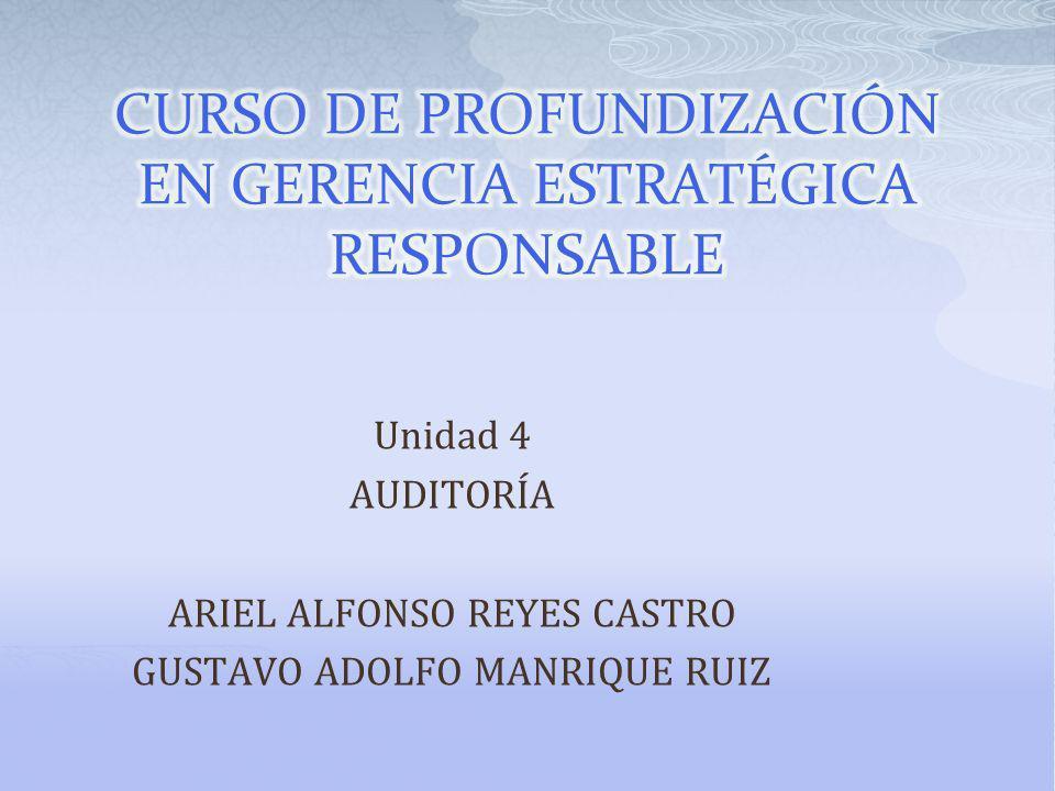 CURSO DE PROFUNDIZACIÓN EN GERENCIA ESTRATÉGICA RESPONSABLE