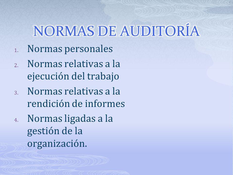 NORMAS DE AUDITORÍA Normas personales