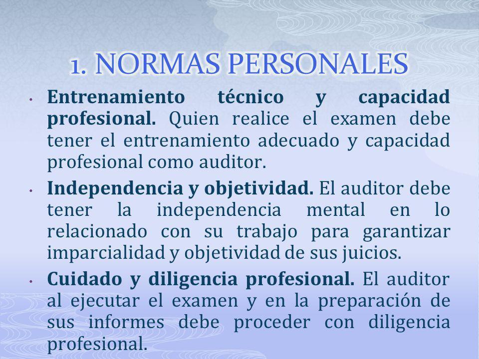 1. NORMAS PERSONALES
