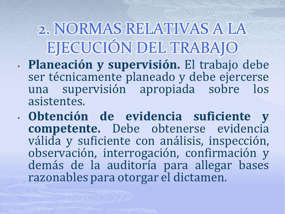 2. NORMAS RELATIVAS A LA EJECUCIÓN DEL TRABAJO