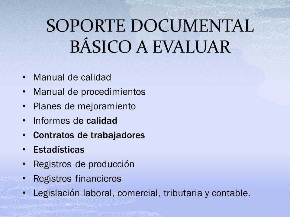 SOPORTE DOCUMENTAL BÁSICO A EVALUAR