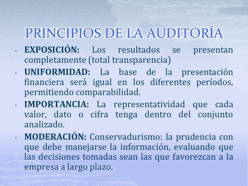 PRINCIPIOS DE LA AUDITORÍA
