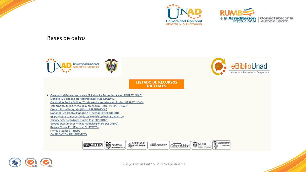 Bases de datos FI-GQ-GCMU-004-015 V. 001-17-04-2013