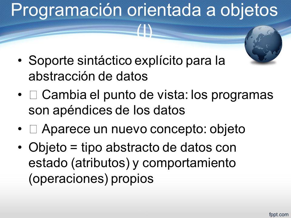 Programación orientada a objetos (I)