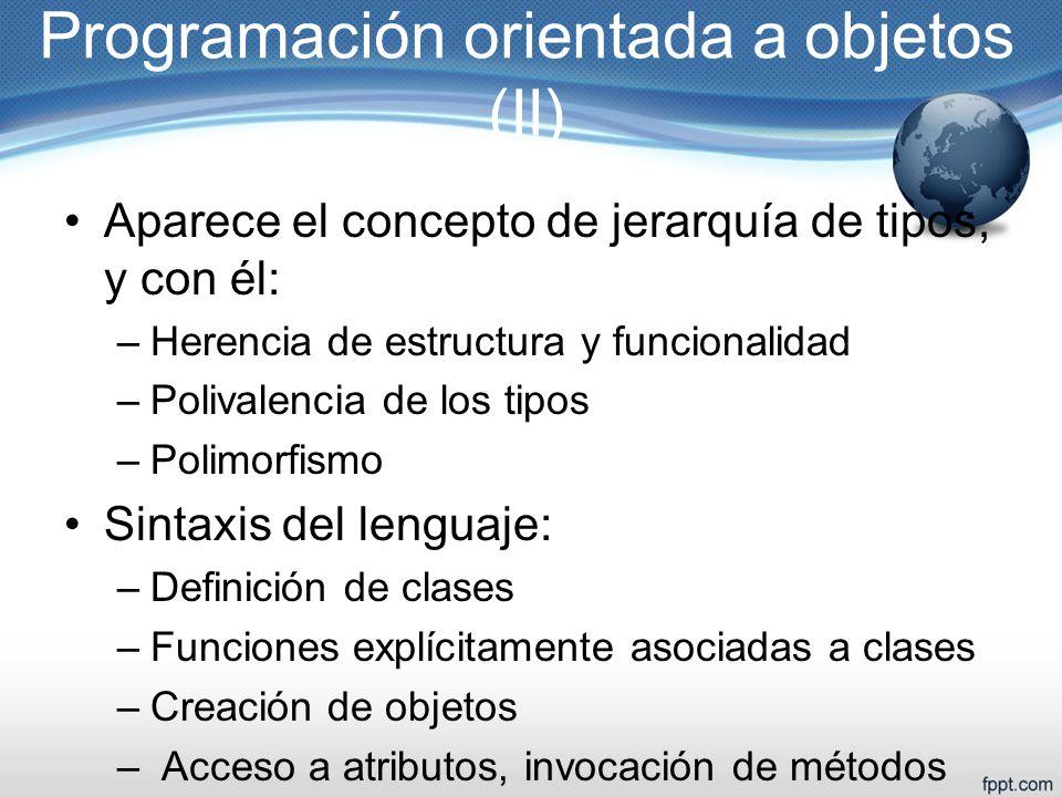Programación orientada a objetos (II)
