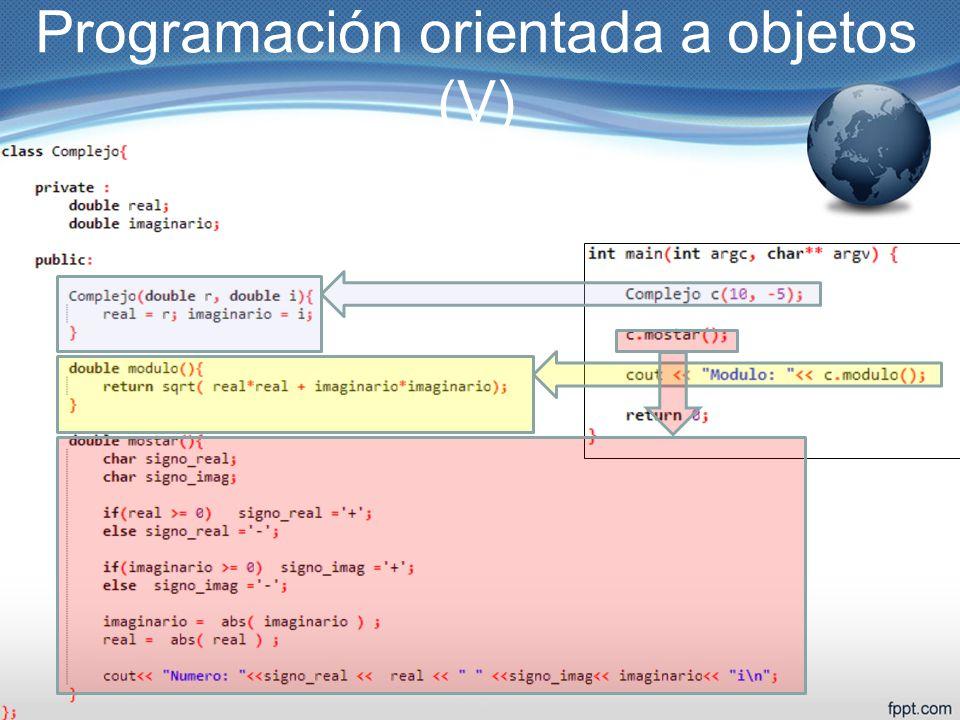 Programación orientada a objetos (V)