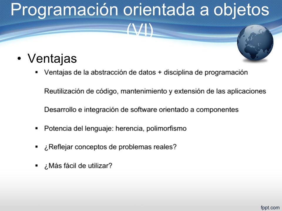 Programación orientada a objetos (VI)