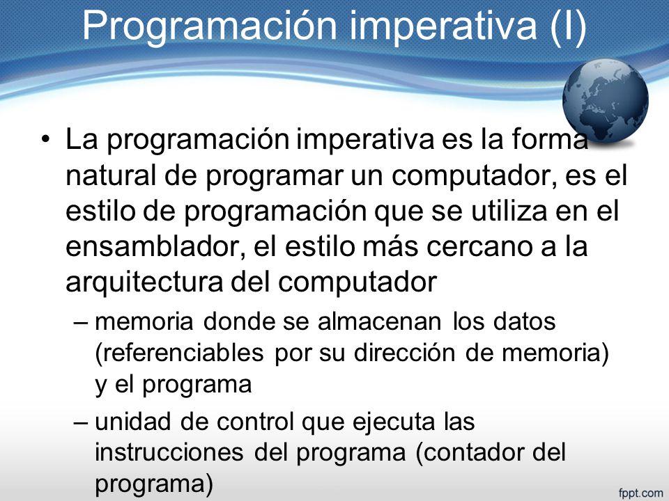 Programación imperativa (I)