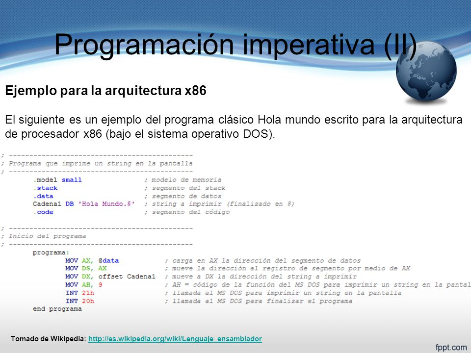 Programación imperativa (II)