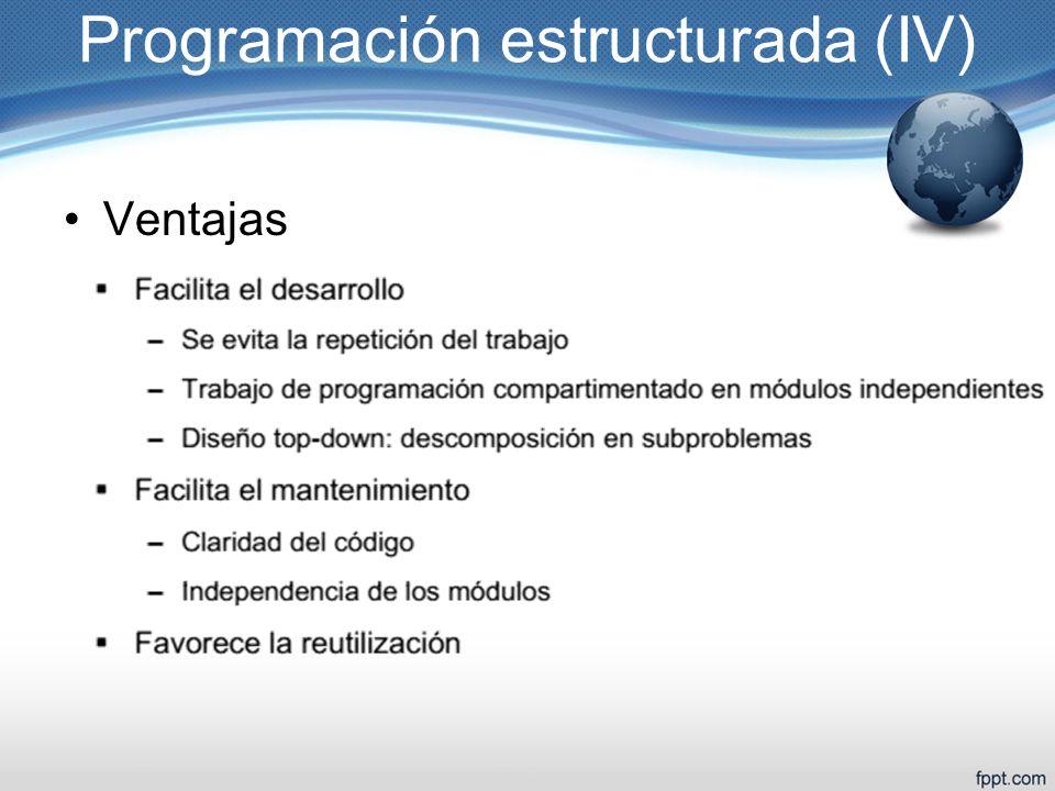 Programación estructurada (IV)