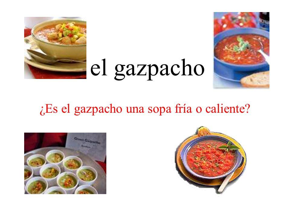 ¿Es el gazpacho una sopa fría o caliente