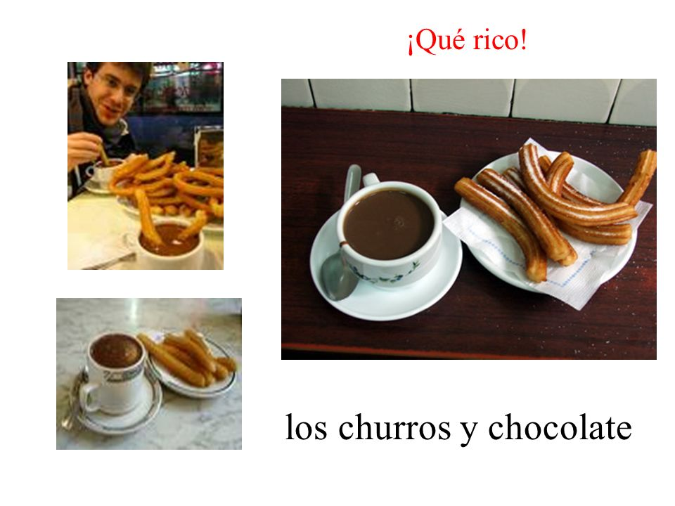 los churros y chocolate