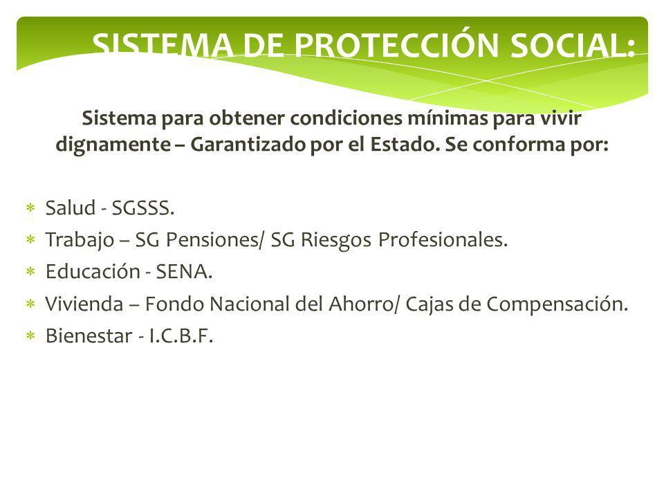 SISTEMA DE PROTECCIÓN SOCIAL: