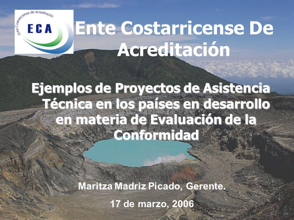 Ente Costarricense De Acreditación Maritza Madriz Picado, Gerente.