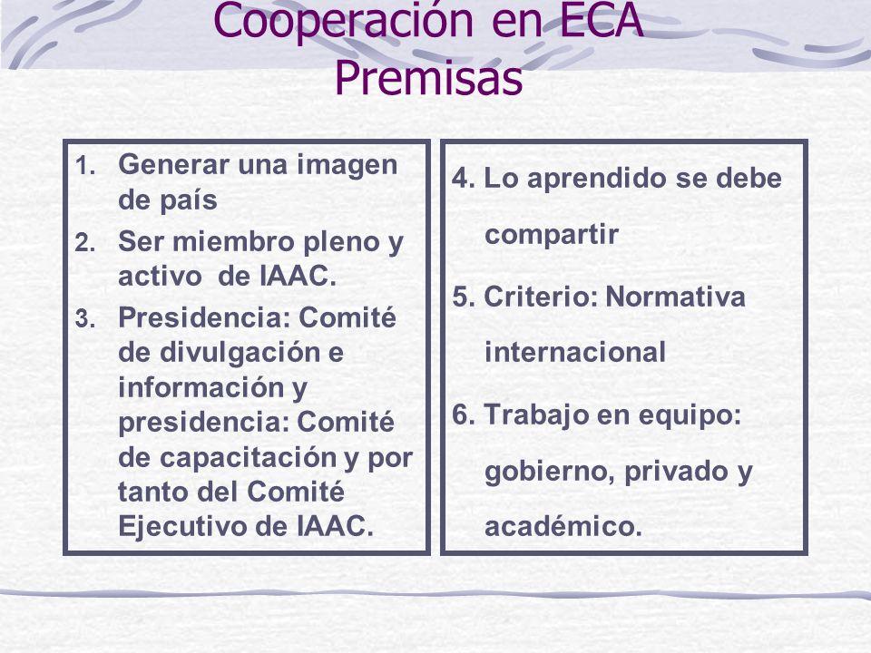 Cooperación en ECA Premisas