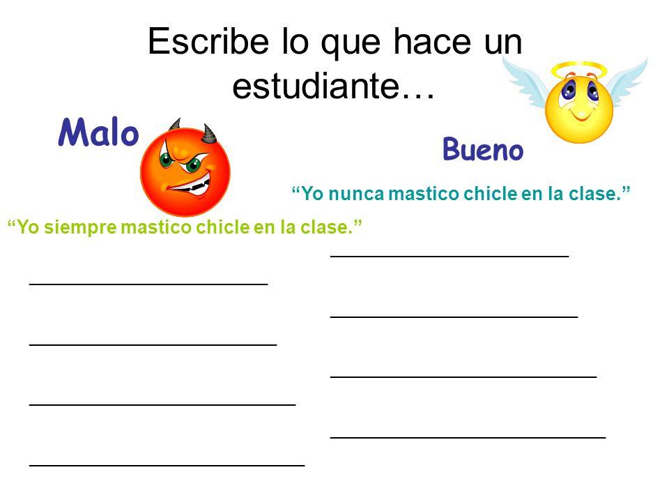 Escribe lo que hace un estudiante…