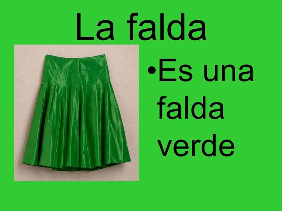 La falda Es una falda verde