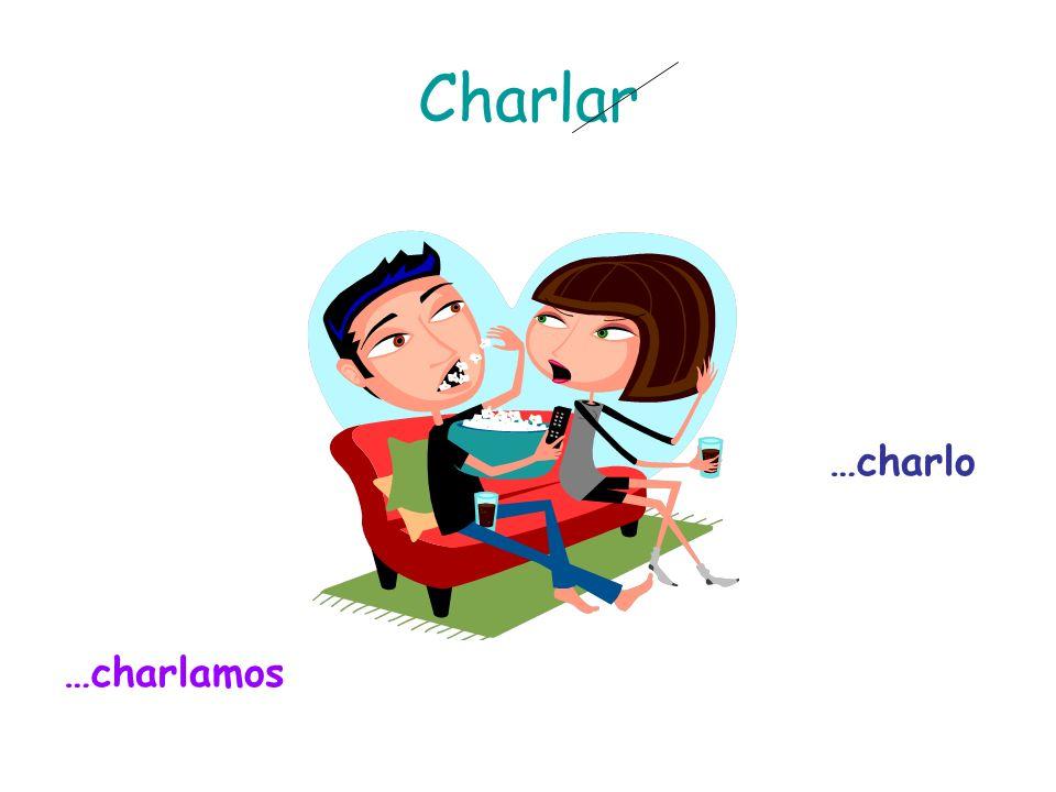 Charlar …charlo …charlamos
