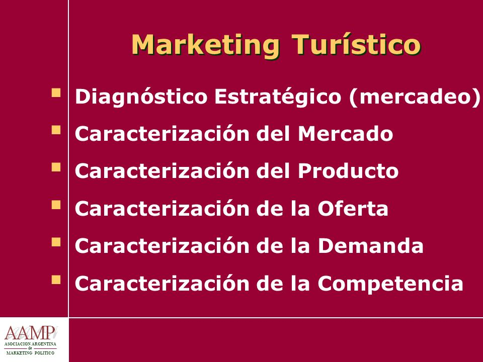 Marketing Turístico Diagnóstico Estratégico (mercadeo)