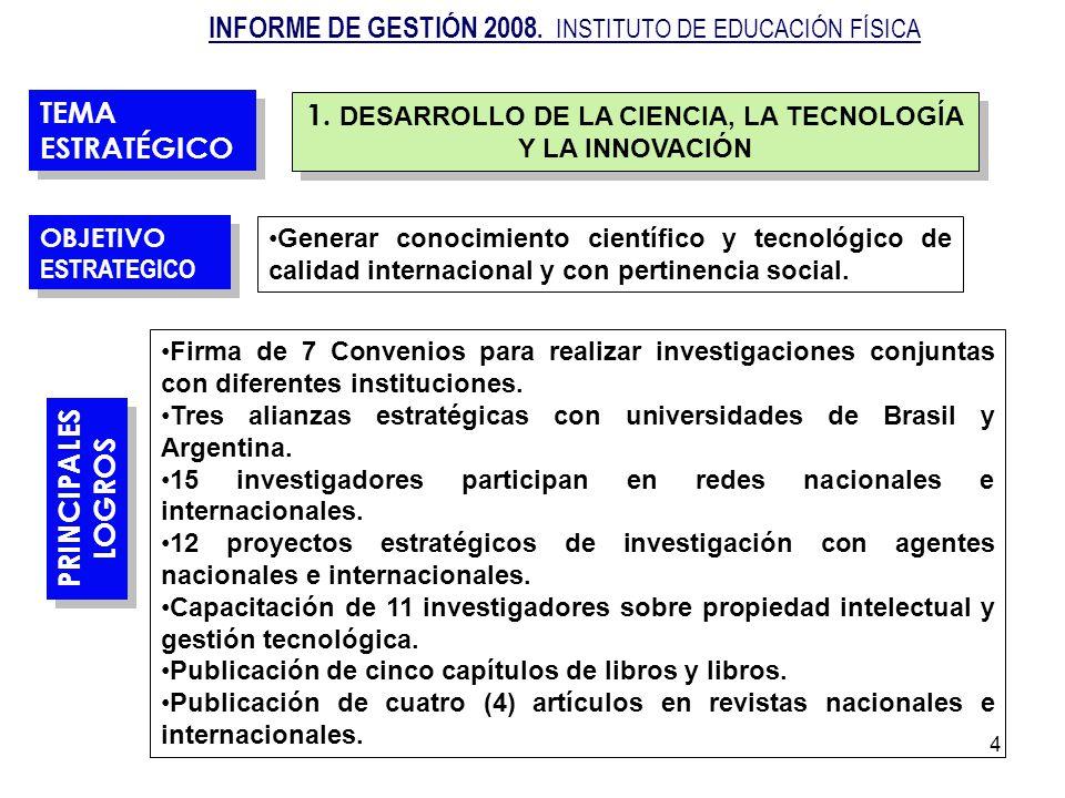 1. DESARROLLO DE LA CIENCIA, LA TECNOLOGÍA Y LA INNOVACIÓN