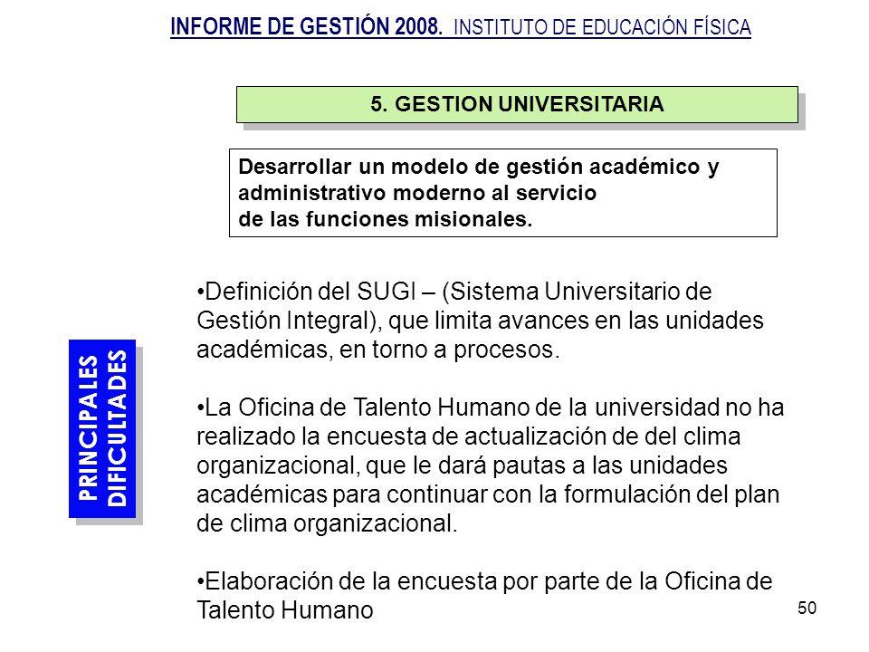 5. GESTION UNIVERSITARIA
