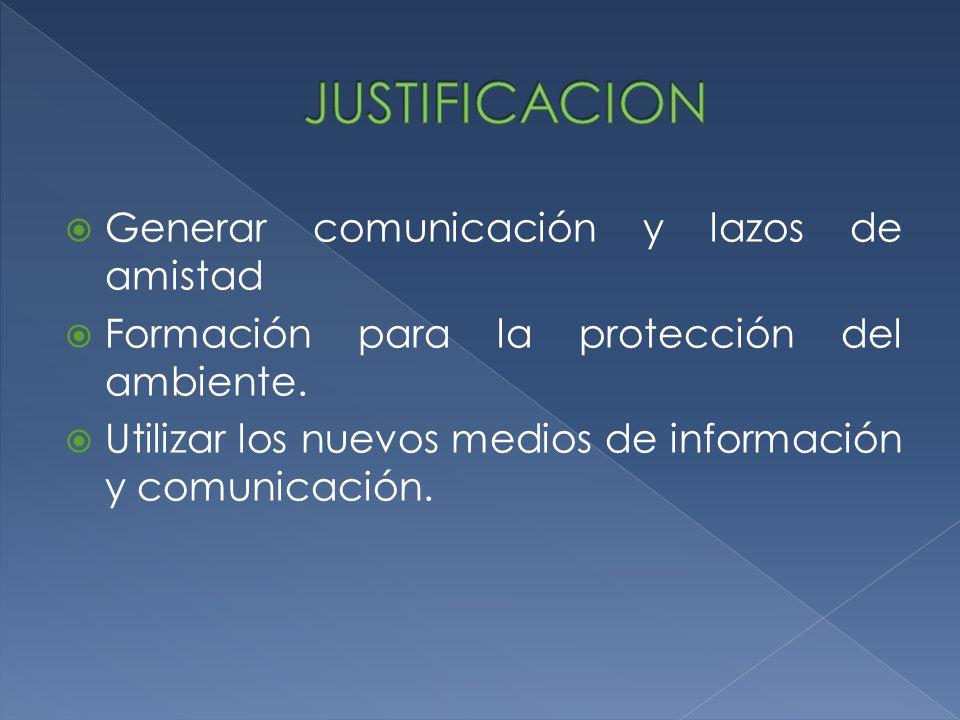 JUSTIFICACION Generar comunicación y lazos de amistad