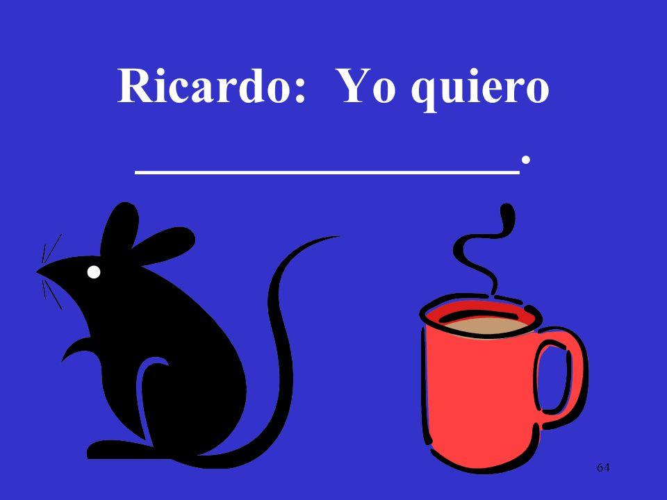 Ricardo: Yo quiero _______________.