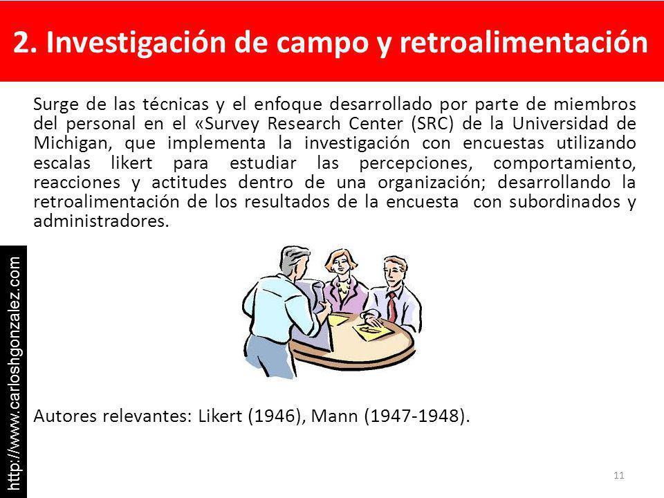 2. Investigación de campo y retroalimentación