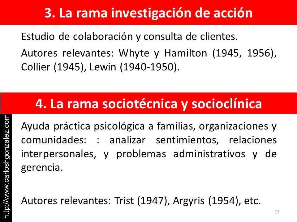 3. La rama investigación de acción