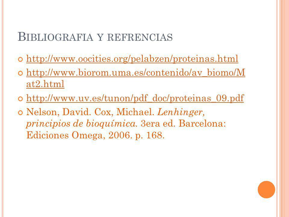 Bibliografia y refrencias