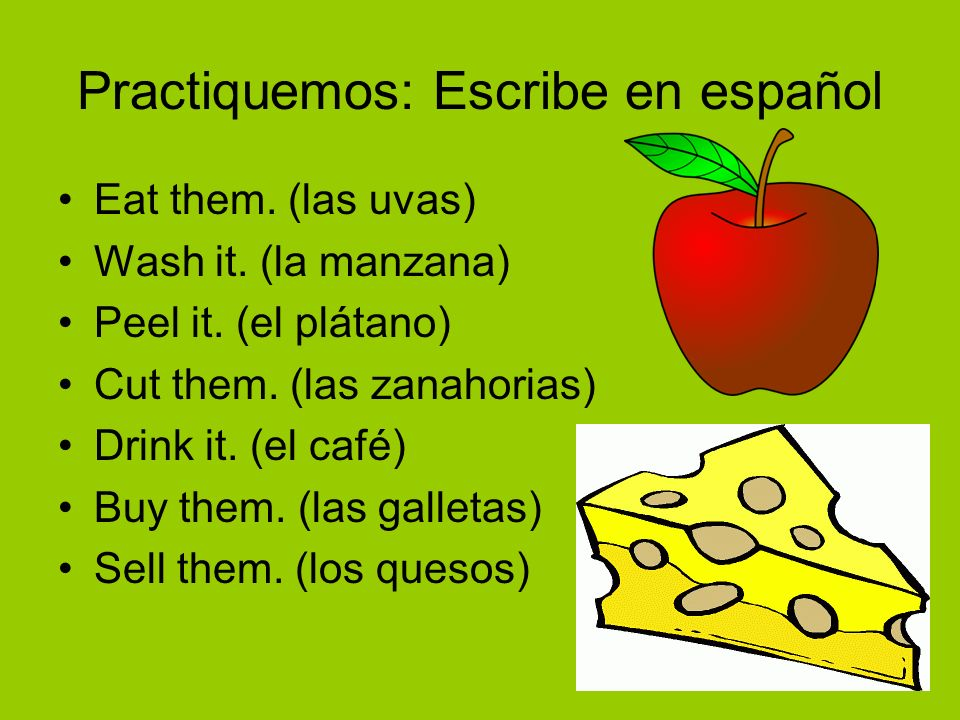 Practiquemos: Escribe en español