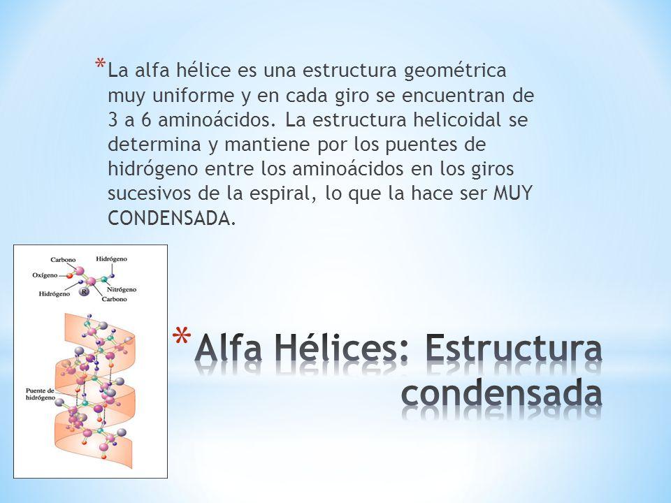 Alfa Hélices: Estructura condensada