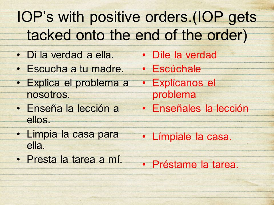 IOP's with positive orders.(IOP gets tacked onto the end of the order)
